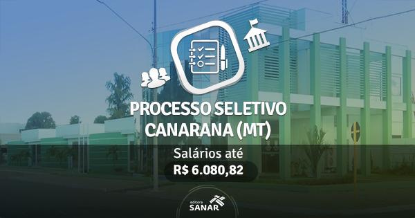 Processo seletivo da Prefeitura de Canarana (MT)