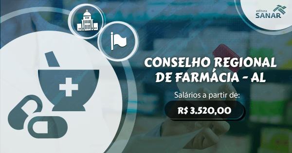 Conselho Regional de Farmácia de Alagoas abre concurso com vagas para 30 farmacêuticos