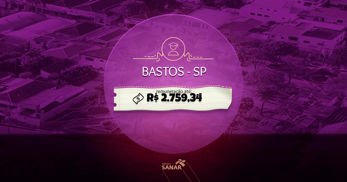 Concurso Prefeitura de Bastos (SP): Edital aberto com vagas para Dentistas, Enfermeiros, Psicólogos e mais