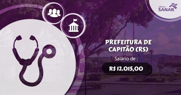 Concurso Prefeitura de Capitão (RS): edital aberto com vagas para Medicina