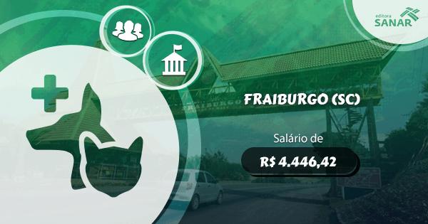 Concurso Prefeitura Fraiburgo (SC): edital aberto para Medicina Veterinária