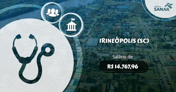 Concurso Prefeitura de Irineópolis (SC): edital aberto para Medicina