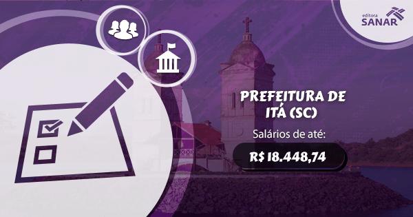 Concurso Prefeitura de Itá (SC): edital aberto para Enfermagem e Medicina