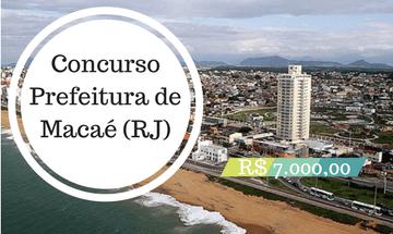 Concurso Prefeitura de Macaé (RJ): mais de 200 vagas para Enfermagem, Farmácia, Medicina e mais
