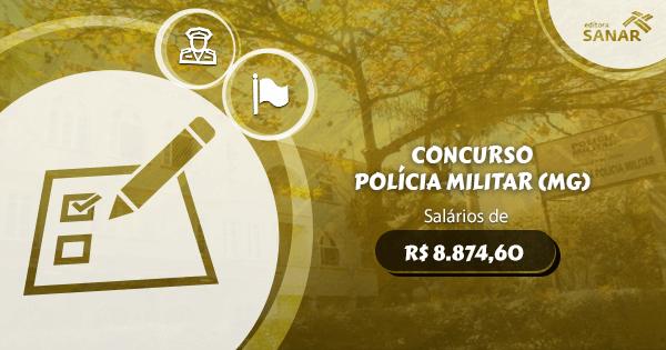 Concurso da Polícia Militar (MG): vagas para Medicina, Fisioterapia e mais
