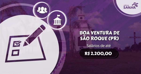Concurso Prefeitura Boa Ventura de São Roque (PR): vagas para Nutrição e Psicologia