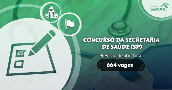 Concurso Secretaria de Saúde (SP): previsão de vagas para Enfermagem, Medicina Veterinária e mais.