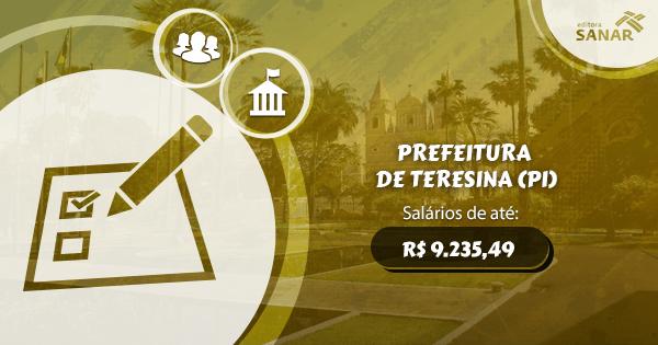 Processo Seletivo Prefeitura de Teresina (PI): edital aberto para Enfermagem, Farmácia, Psicologia, Medicina e mais