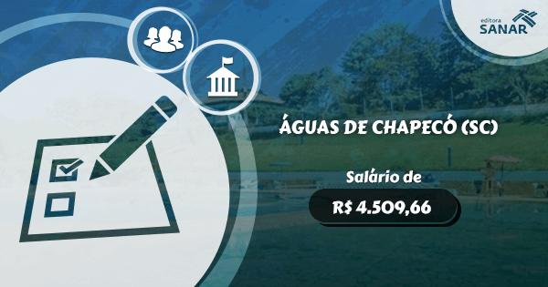 Concurso Prefeitura de Águas de Chapecó (SC): vagas para Enfermagem, Psicologia, Farmácia e mais.