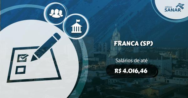 Concurso Prefeitura de Franca (SP): vagas para Nutrição, Medicina Veterinária e Fisioterapia