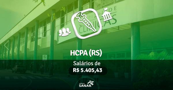 Concurso HCPA (RS): edital publicado na área de Enfermagem