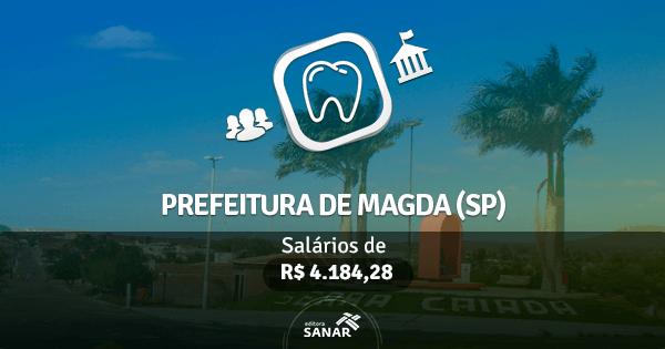 Concurso Prefeitura de Magda (SP): vagas para Dentistas