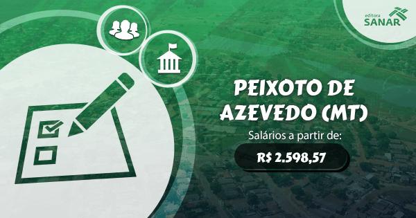 Prefeitura Municipal de Peixoto Azevedo (MT) abre processo seletivo para Enfermeiros, Psicólogos e Dentistas