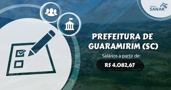 Guaramirim (SC) abre concurso para vagas em Fisioterapia, Odontologia, Farmácia e Enfermagem