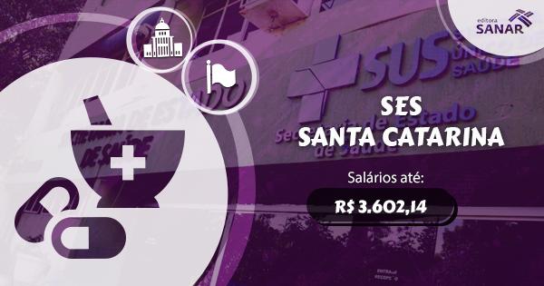 Secretaria de Estado da Saúde de Santa Catarina publica edital com vaga para Farmacêutico