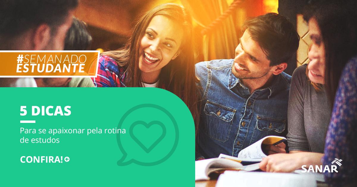 5 dicas de como se apaixonar pela sua rotina de estudos