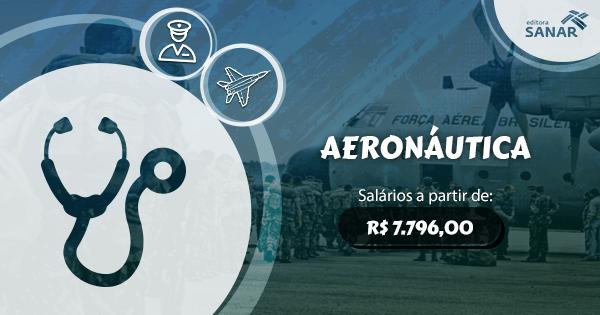 Força Aérea Brasileira abre concurso para medicina com vagas para 21 especialidades