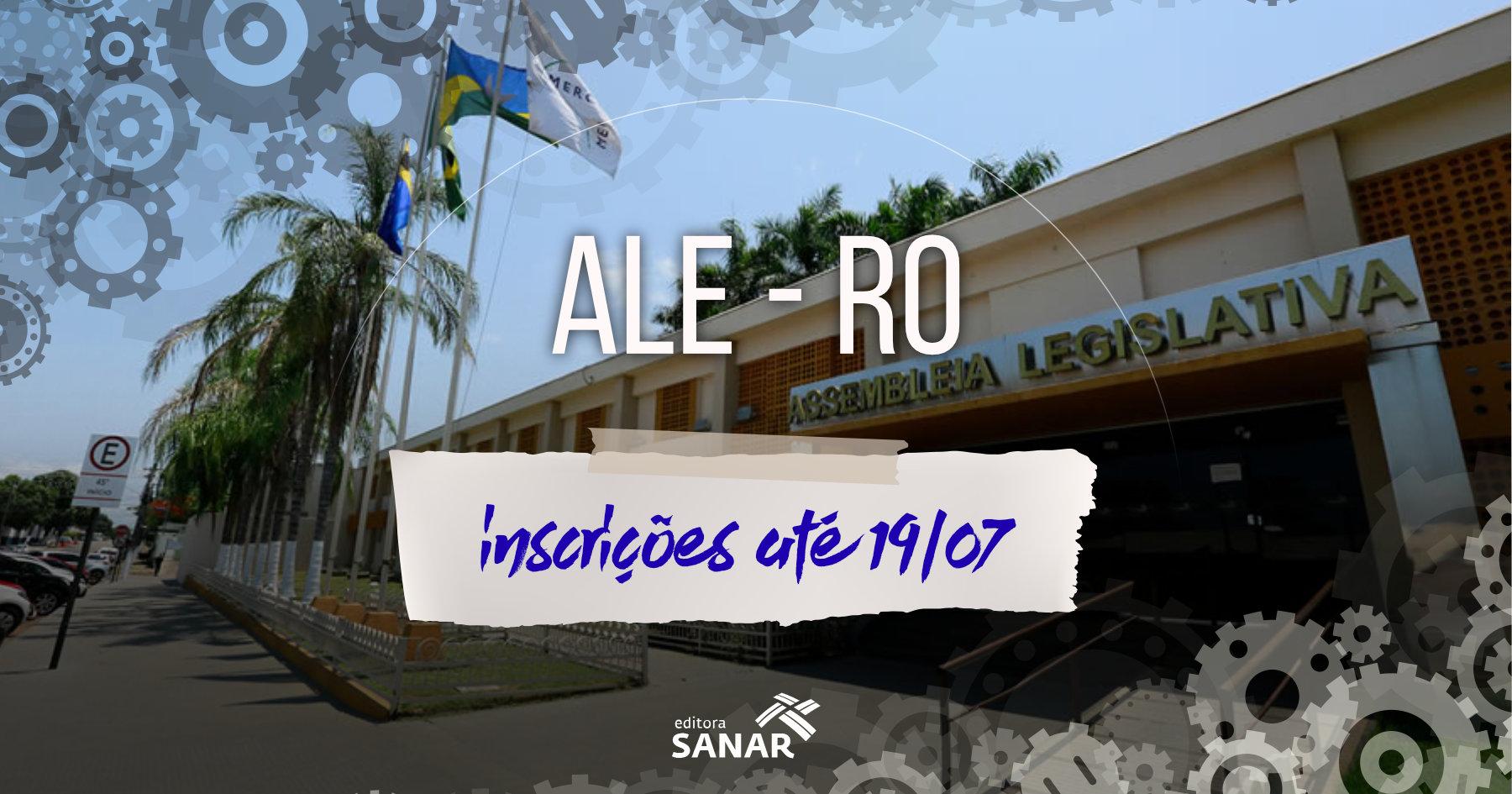 Concurso ALE-RO: vagas para psicólogos