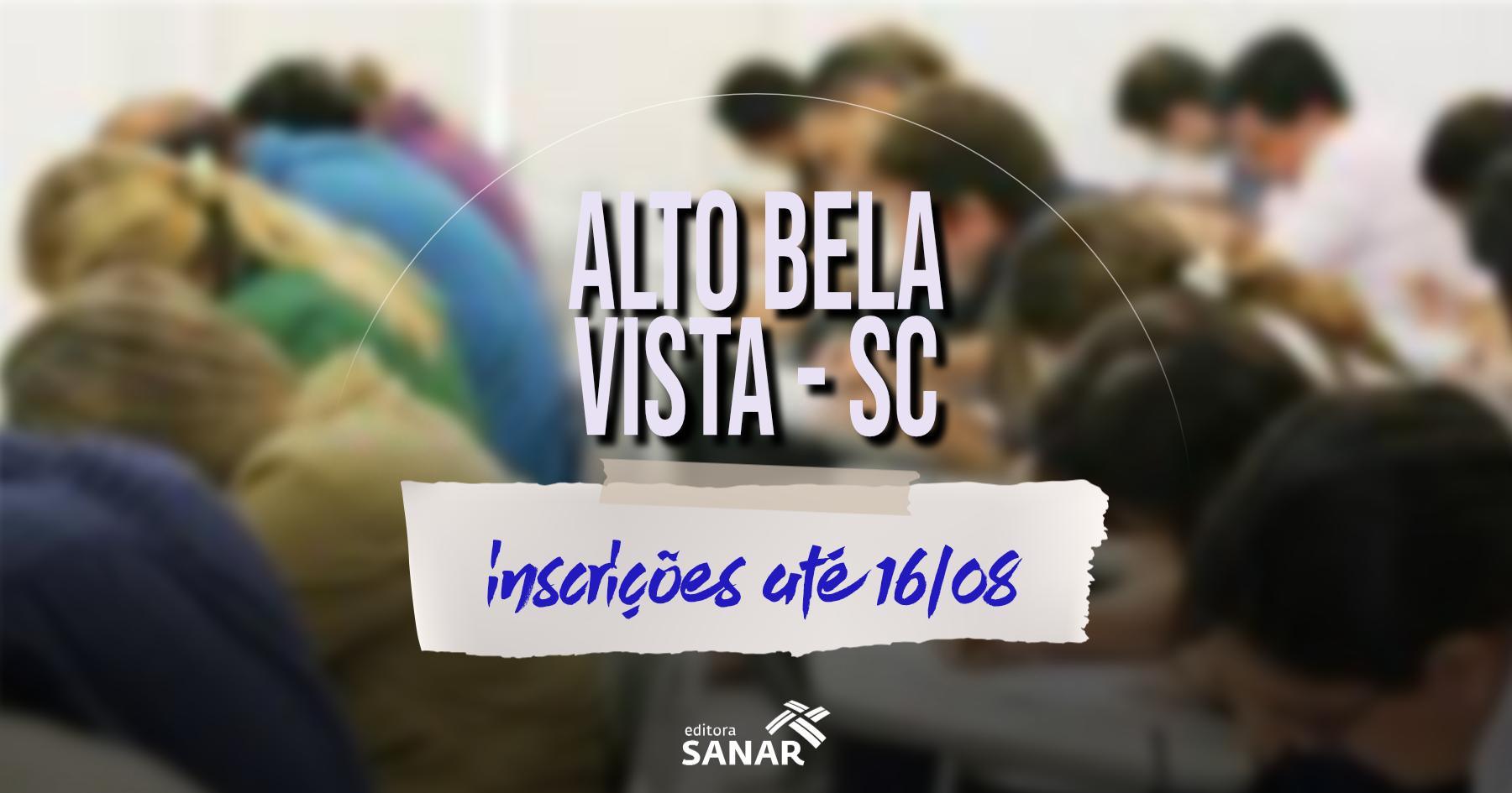 Concurso | Alto Bela Vista (SC) divulga edital