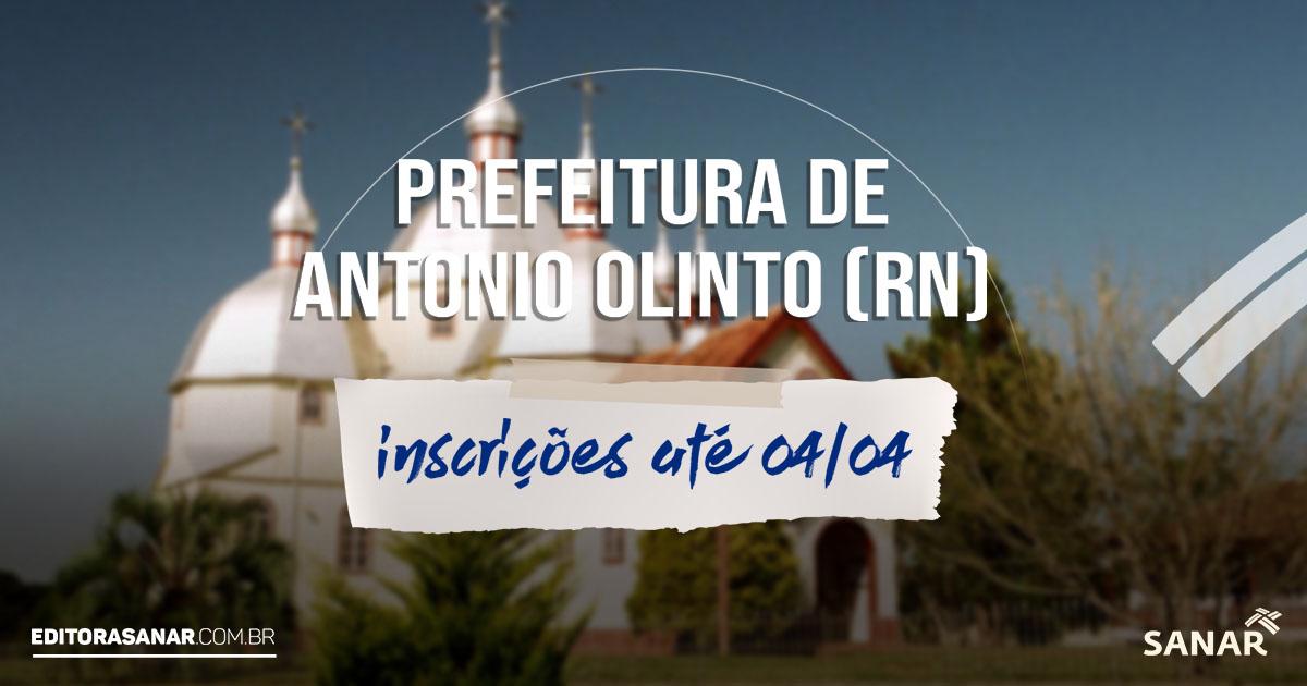 Concurso Prefeitura de Antônio Olinto - PR: salário de até R$12,3 mil na área da Saúde
