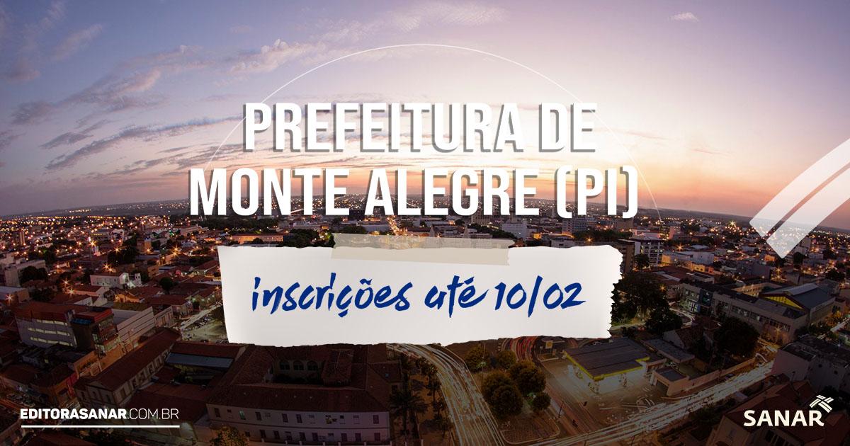 Concurso Prefeitura de Monte Alegre (PI): vagas na área da Saúde. Salário de até R$ 10 mil
