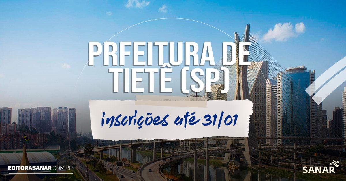 Concurso da Prefeitura de Tietê (SP): vagas na área da saúde com salário de até R$ 12 mil