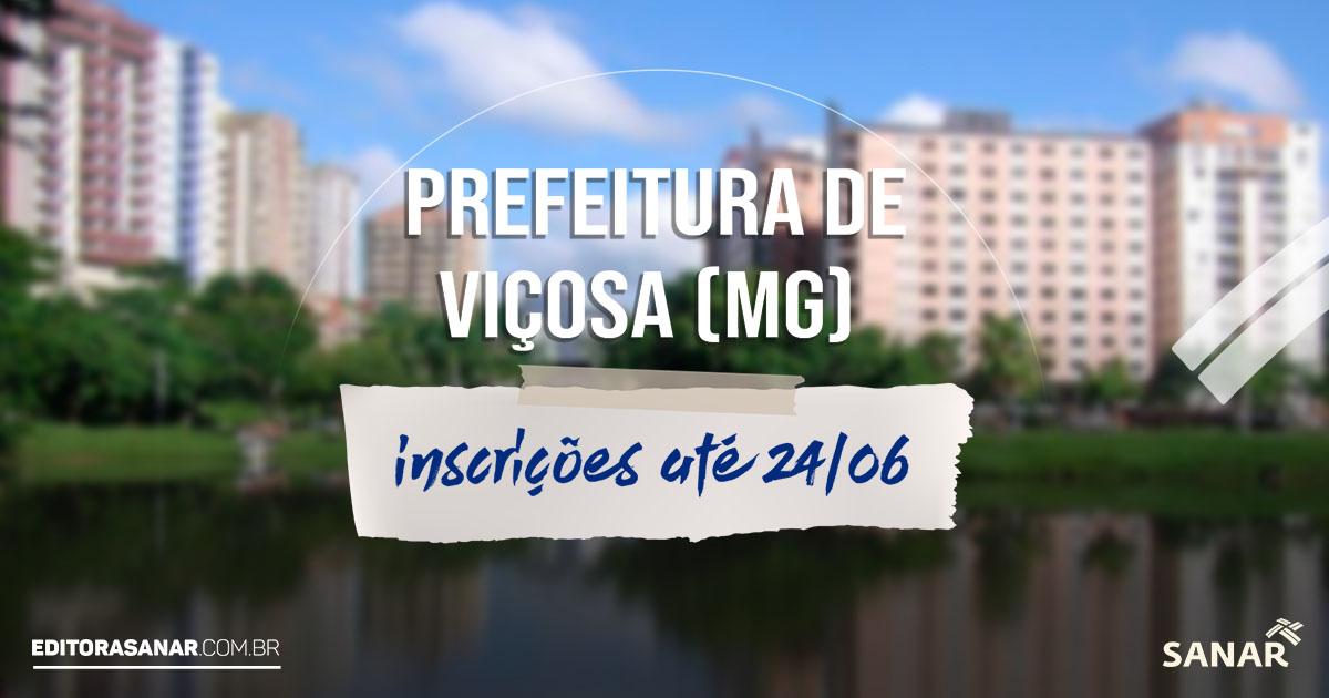 Concurso Prefeitura de Viçosa (MG): mais de 40 vagas na Saúde! Salários de até R$ 8,6 mil