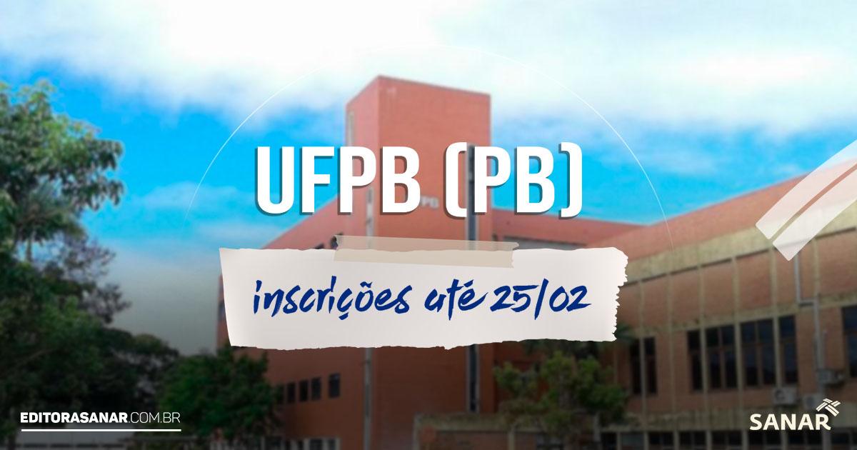 Concurso UFPB - PB: salários de até R$ 7,7 mil na área da Saúde