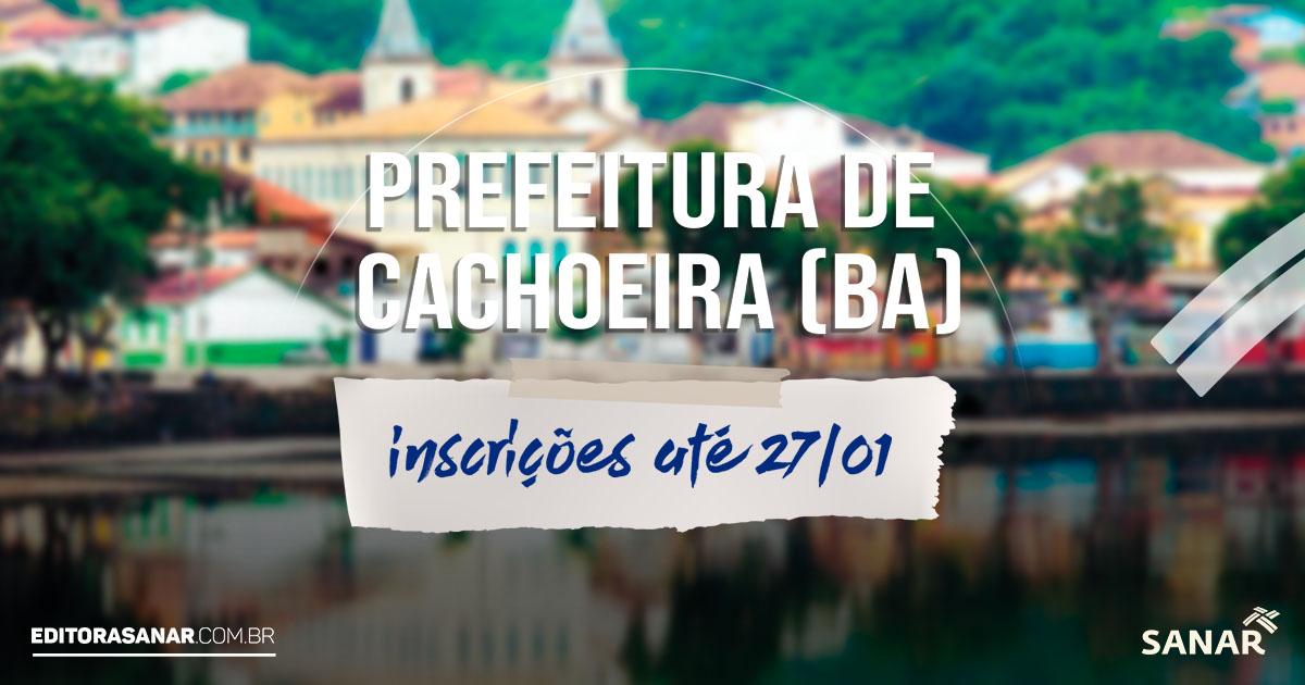 Prefeitura de Cachoeira (BA): vagas na área da saúde. Salário de até R$ 5 mil