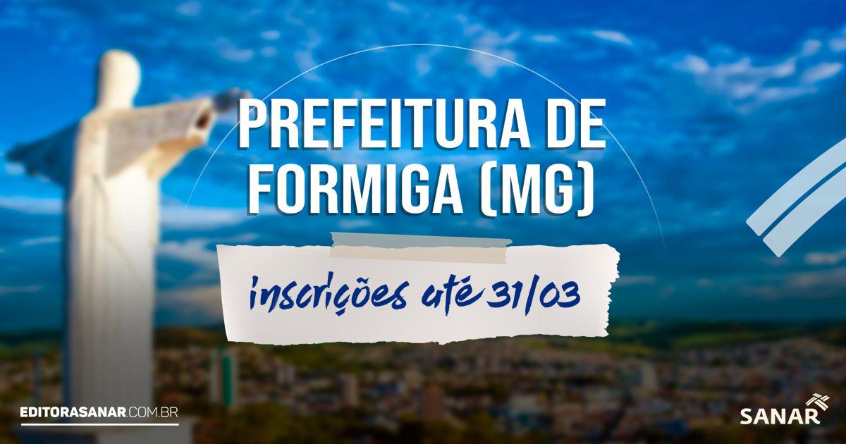 Concurso Prefeitura de Formiga - MG: 34 vagas na área da saúde. Salários de até R$ 10,5 mil