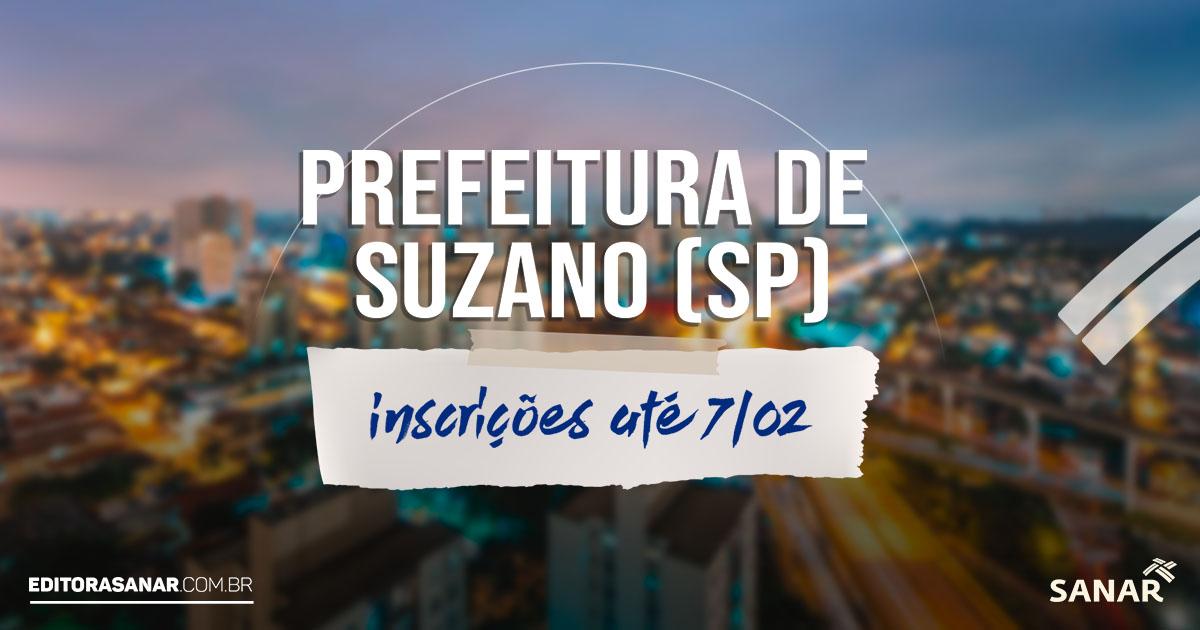 Concurso Prefeitura de Suzano - SP: 34 vagas na área da Saúde. Salários de até R$ 7,3 mil