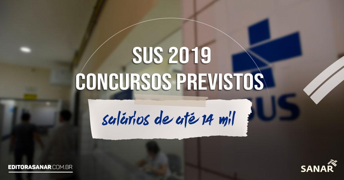 Concursos Previstos do SUS para 2019: tudo o que você precisa saber!