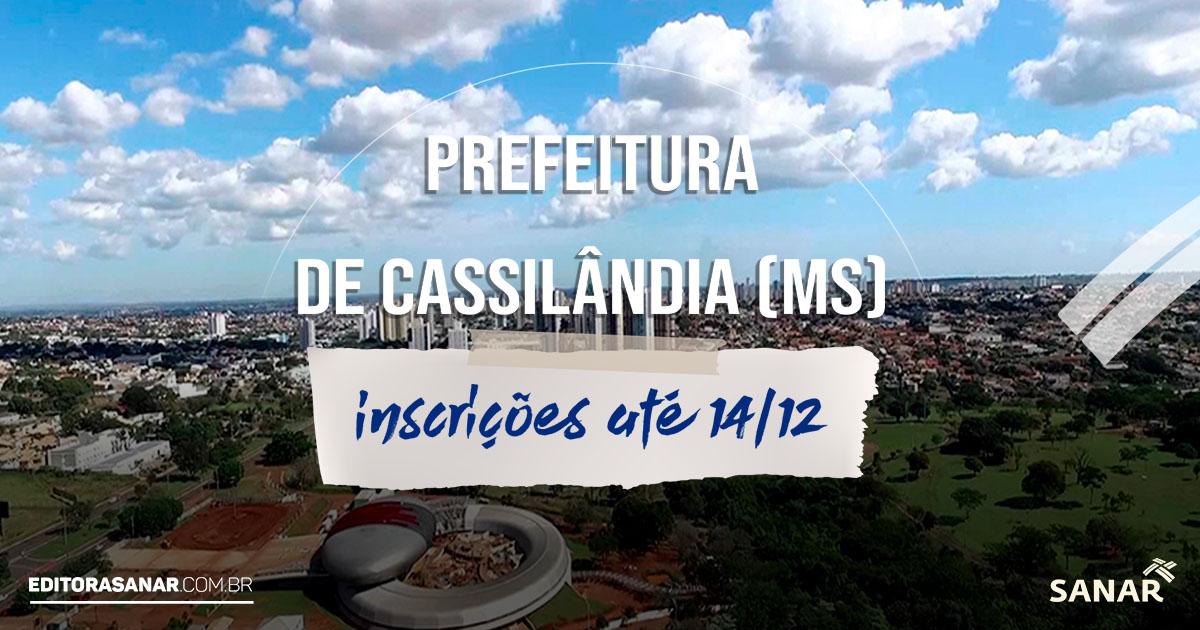 Prefeitura de Cassilândia (MS): concurso oferta vagas para profissionais de Saúde