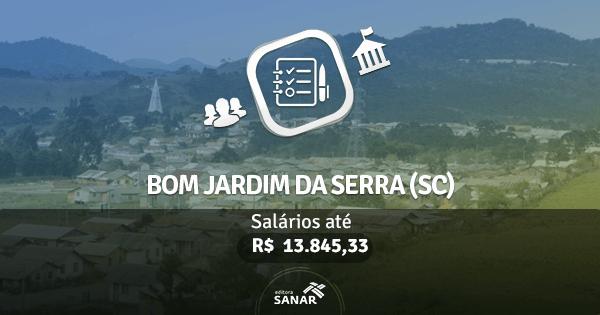 Prefeitura de Bom Jardim da Serra (SC): edital aberto com vagas para Enfermagem, Medicina e mais