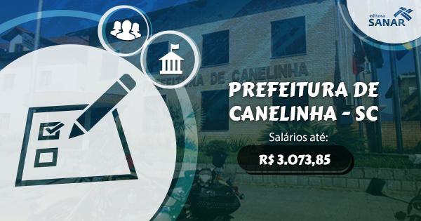 Prefeitura de Canelinha, em Santa Catarina, abre concurso para preenchimento de vagas na saúde