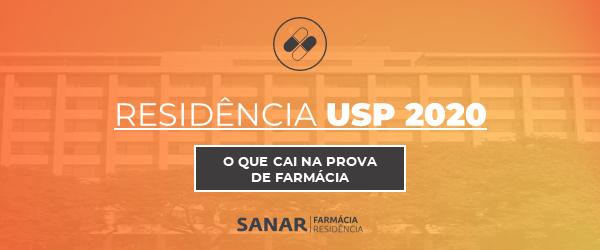 Residência USP 2020: O que cai na prova de Farmácia