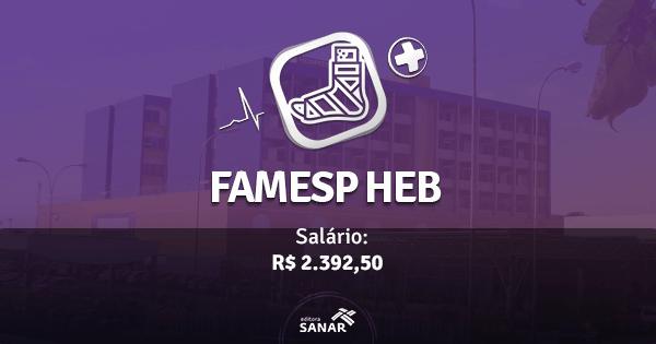 FAMESP abre concurso para Fisioterapeutas do Hospital Estadual Bauru