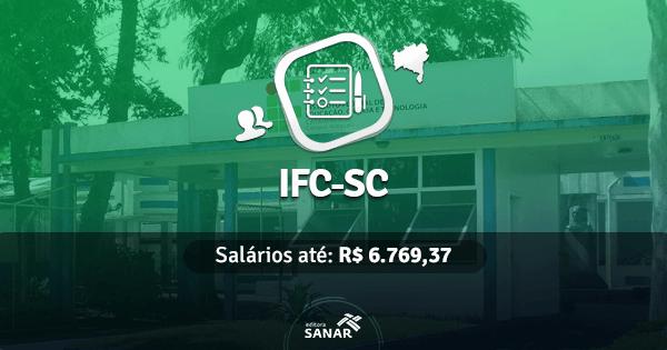 IFC-SC abre concurso com vagas para Enfermeiros, Nutricionistas e Médicos do Trabalho