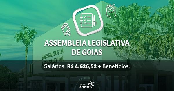Assembleia Legislativa de Goiás tem concurso público em andamento