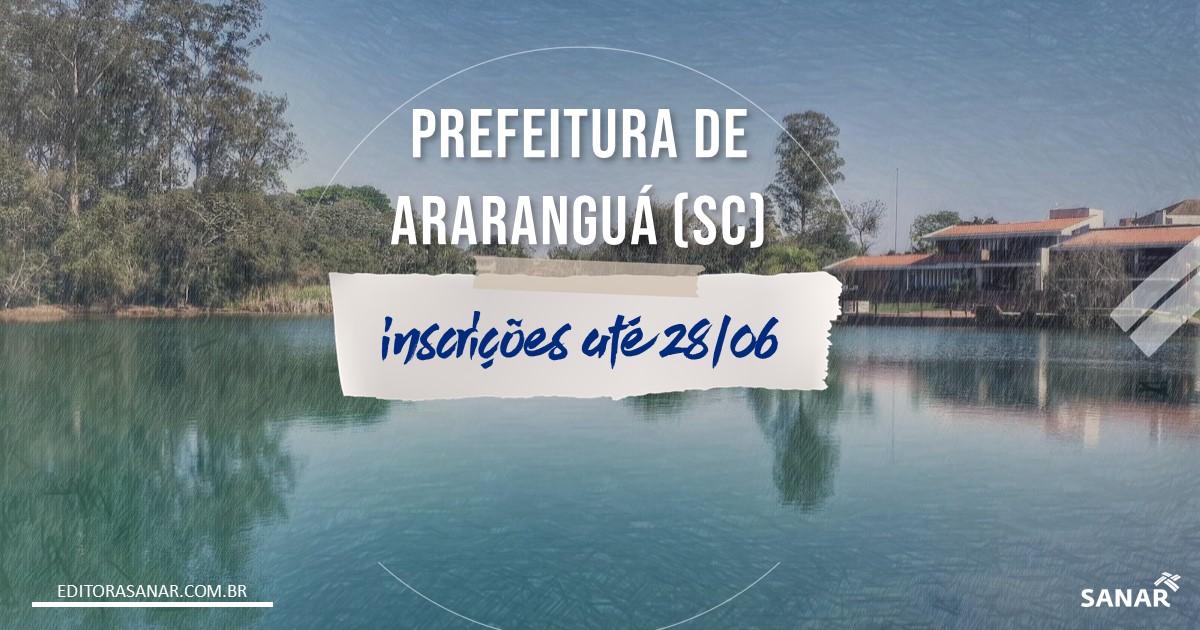 Concurso de Araranguá - SC: vagas para área da Saúde!