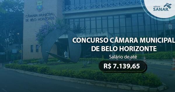 Concurso da Câmara Municipal de Belo Horizonte é previsto para 2017