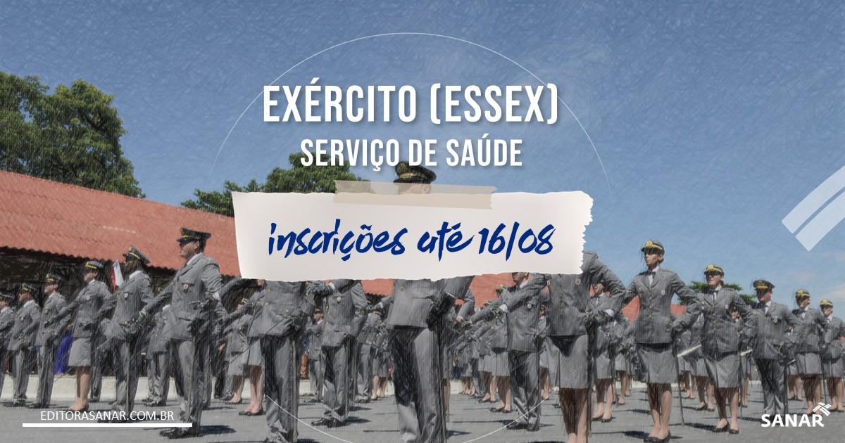 Concurso EXÉRCITO (EsSex) - Serviço de Saúde: salário de até R$11 mil!