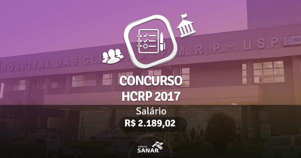 Concurso HCRP 2017: edital publicado com vagas para Psicólogos
