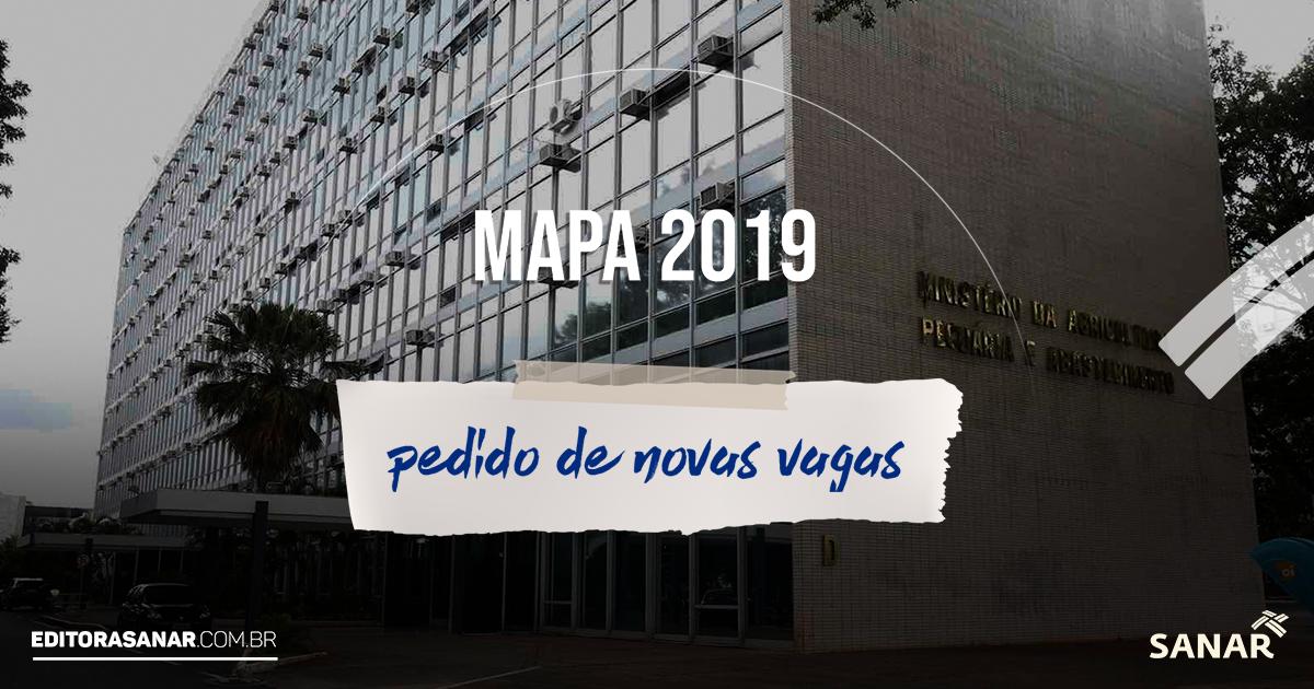 Concurso MAPA 2019: aguardado pedido de novas vagas