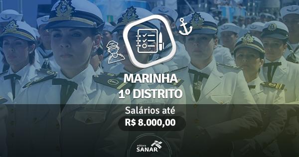 Marinha do Brasil abre vagas para Nutricionistas, Enfermeiros, Psicólogos e mais