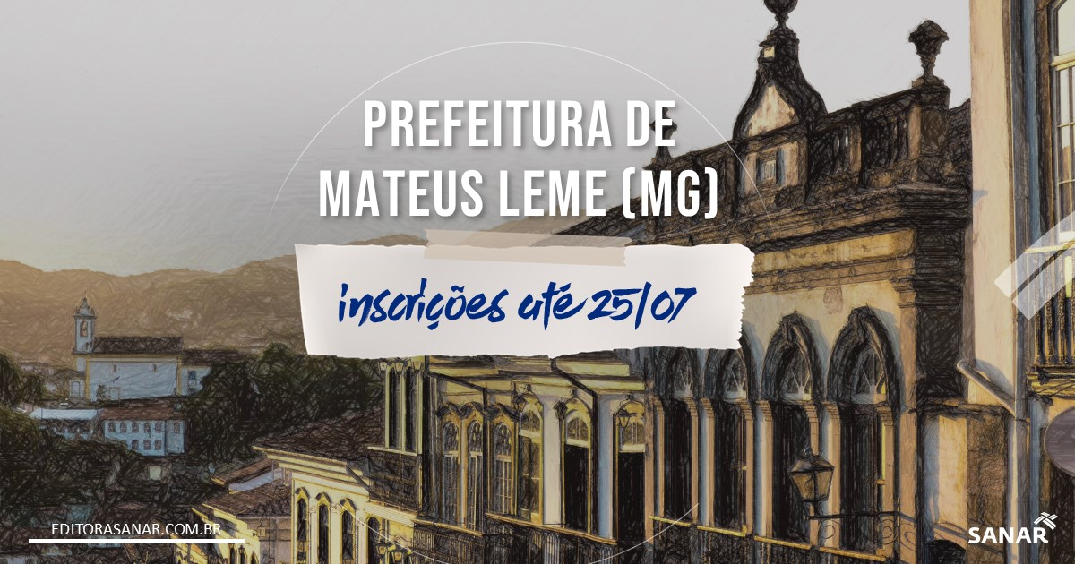 Concurso de Mateus Leme - MG: salários de até R$13,2 mil na Saúde!