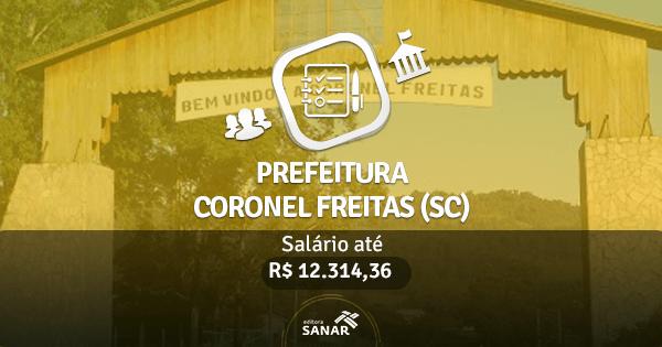 Prefeitura Coronel Freitas (SC): edital publicado com vagas para Nutricionistas, Farmacêuticos e Médicos