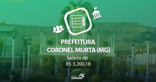 Concurso Prefeitura de Coronel Murta (MG) 2017: edital divulgado com vagas em Enfermagem e Odontologia