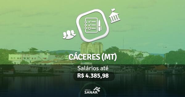 Concurso Prefeitura de Cáceres (MT): edital publicado com vagas para Fisioterapia e Psicologia