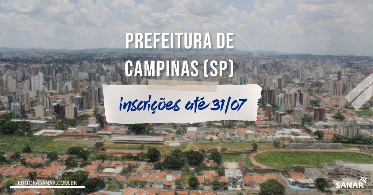 Concurso de Campinas - SP: 80 vagas para área da Saúde!